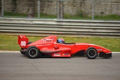 0 2 formel renault 0 bilprov på Monza Arkivbilder