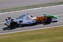 Formel-Renault-laufendes Auto Lizenzfreies Stockbild