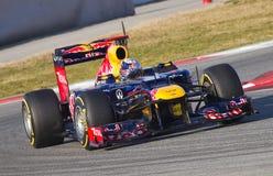 Formel 1 Sebastian Vettel Royaltyfri Foto