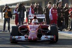 Formel 1 2015: Sebastian Vettel Arkivbild