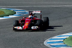 Formel 1 2015: Sebastian Vettel Fotografering för Bildbyråer
