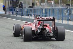 Formel 1, 2015: Sebastian Vettel Ferrari Royaltyfria Bilder
