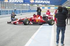 Formel 1, 2015: Sebastian Vettel Ferrari Royaltyfri Bild