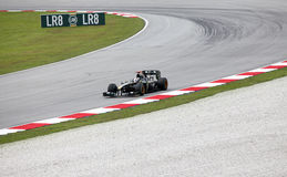 1 formel Sepang 2010 april Arkivbild
