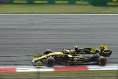 Formel 1 2019 Shanghai Renault royaltyfri bild