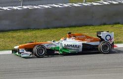 Formel 1-Teams prüfen Tage an Catalunya Stromkreis Lizenzfreies Stockfoto