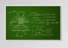Formel und Diagramm auf einem Brett vektor abbildung