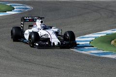 Formel 1 2015: Valtteri Bottas Royaltyfria Foton