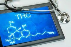 Formel von THC stockfotografie