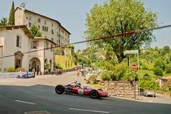 Formelbilar på Bergamo den historiska granda prixen 2017 Royaltyfria Bilder