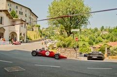 Formelbilar på Bergamo den historiska granda prixen 2017 Arkivbild