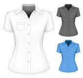 Formele korte sleeved blouses voor dame royalty-vrije illustratie