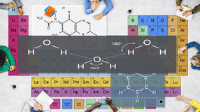 Formelexperiment Atom Chemistry Concept Royaltyfria Foton