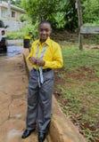 Formell klänning för angenäm pojke royaltyfria bilder