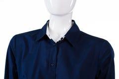 Formell skjorta för marin på skyltdocka Royaltyfri Foto