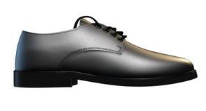 Formell svart lädersko arkivfoton