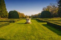 Formell trädgård i Lednice Arkivbild