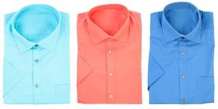 formella isolerade muffar för skjortor short Royaltyfria Foton