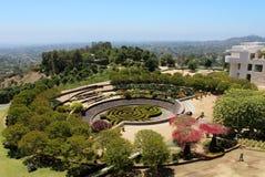 Formella trädgårdar på den Getty mitten - Los Angeles Arkivbild