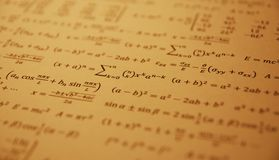 Formeln Stockfoto