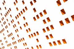 Formen auf weißer Wand Lizenzfreie Stockbilder