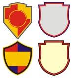 Formen der Embleme und des Wappens Stockfotografie