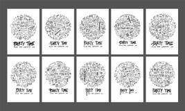 Formen för cirkeln för partiklotterillustrationen på papper a4 tapetserar tillbaka Arkivfoton