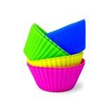 Formen für kleine Kuchen Lizenzfreies Stockfoto