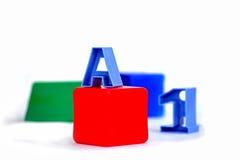 Formen mit A und 1 Lizenzfreie Stockfotografie