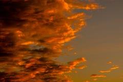Formen von Wolken im Himmel Lizenzfreies Stockbild