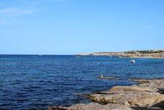 Formentera海滩 库存照片