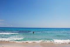 Formentera海滩 免版税库存图片