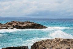 Formentera海滩 图库摄影