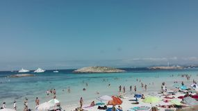 Formentera παραλία παραδείσου Στοκ φωτογραφία με δικαίωμα ελεύθερης χρήσης