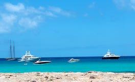 Formentera παραλία Στοκ Εικόνες