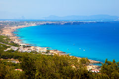 Formentera. Aerial view of Formentera island Royalty Free Stock Images