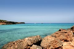 Formentera balearic island Cala Saona Beach Royalty Free Stock Photos