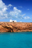 Formentera balearic island from sea west coast Royalty Free Stock Images