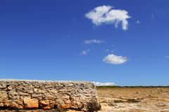 Formentera balearic island stone masonry blue sky Stock Photography