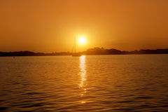 Formentera balearic island sunrise sea Royalty Free Stock Photo