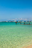 Formentera balearic island view from sea of the west coast Stock Image