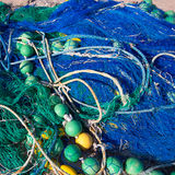 Formentera Balearic Islands fishing tackle nets longliner Stock Photography