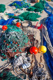 Formentera Balearic Islands fishing tackle nets longliner Stock Photo