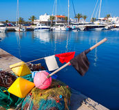 Formentera Balearic Islands fishing tackle nets longliner Royalty Free Stock Photos
