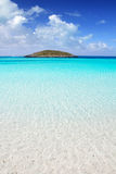 Formentera beach turquoise water Stock Photos