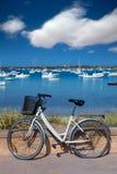 Formentera bicycle at Estany des Peix lake Stock Images