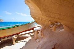 Formentera Cala en Baster in Balearic Islands Royalty Free Stock Images