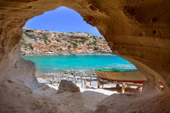 Formentera Cala en Baster in Balearic Islands of Spain Stock Photo