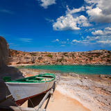 Formentera Cala en Baster in Balearic Islands of Spain Stock Photography
