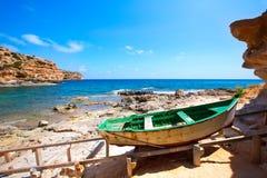 Formentera Cala en Baster in Balearic Islands of Spain Stock Photos